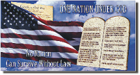 front cover of One Nation Under God flyer